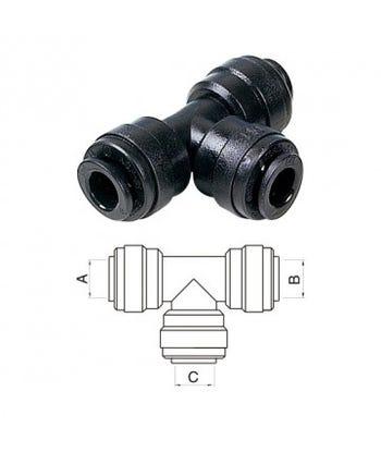 Equal Tee Piece Connector ¦ 8mm Pushfit x 8mm Pushfit ¦ DMFit ATU080808M