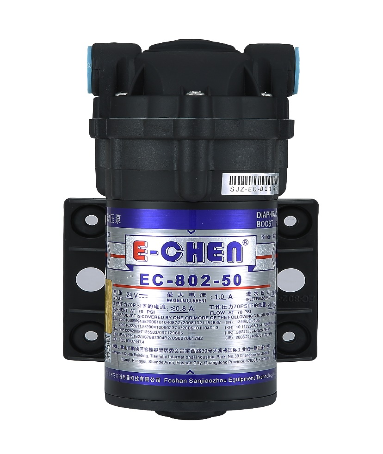 E-Chen EC-802-50 Diaphragm Booster Pump 50GPD for Reverse Osmosis / RO Systems