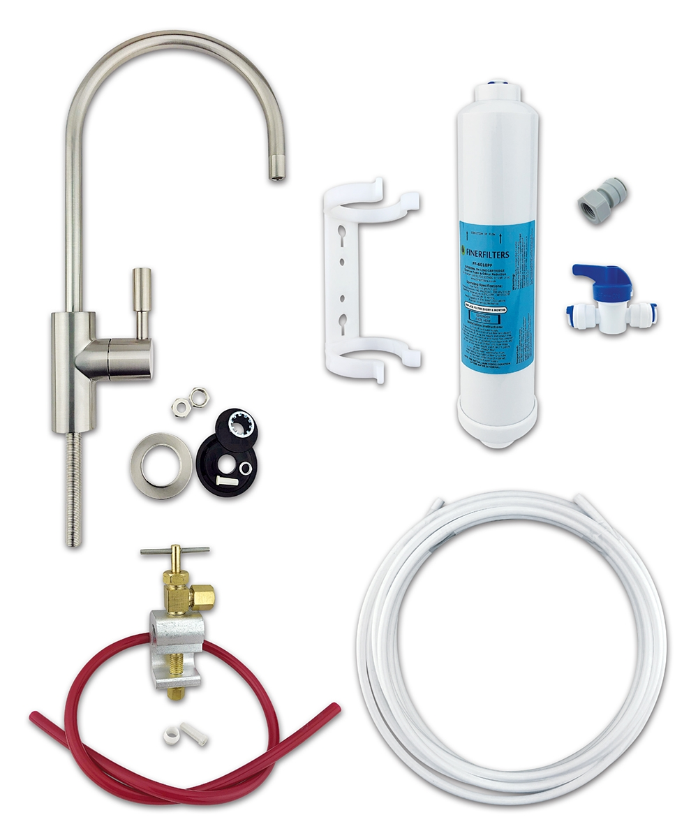 Finerfilters Classic Undersink Kit with Nickel Tap
