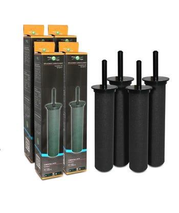 Filterlogic FL-296-8 Carbon Rod Water Filter For Springflow Astracast Filter Taps (4 Pack)