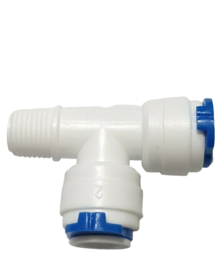 """Finerfilters Tee Piece 1/4"""" PF x 1/4"""" Male BSP x 1/4"""" PF Branch for Domestic Reverse Osmosis Post Filters"""