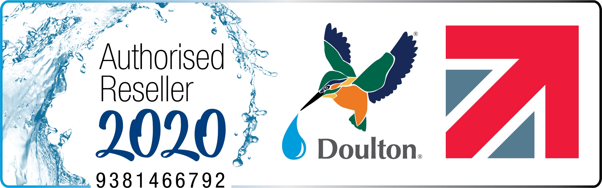 Doulton Authorised Reseller Logo - Finerfilters 2020